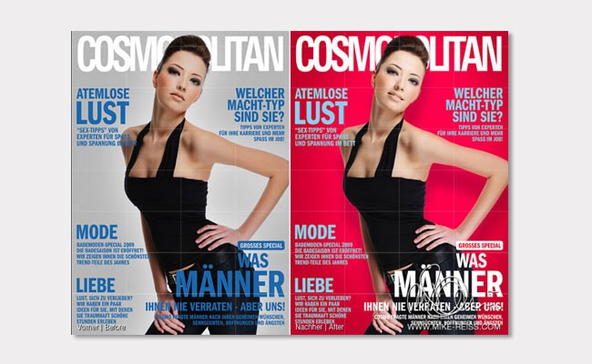 Cover Retusche im Editorial Design.