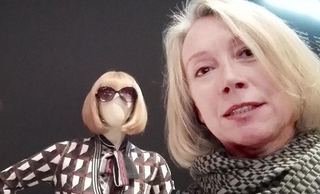 Sigrid Kowalewski traf Anna Wintour auf der Gaultier Ausstellung in München