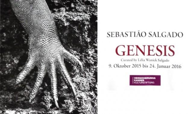 """Hand einer Echse, Ausstellungsplakat der Ausstellung """"Genesis"""" von Sebastiao Salgado"""