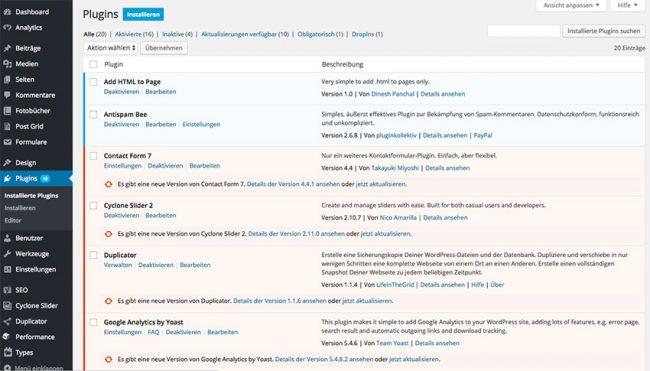 Die besten Plugins für WordPress
